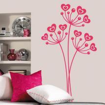 Fleurs de vinyl décoratif de l'amour