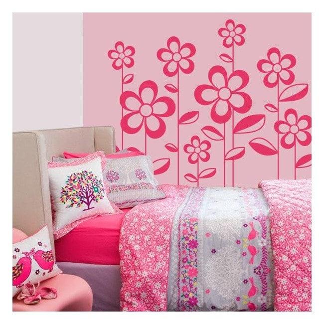 Décor de mur de fleurs printemps