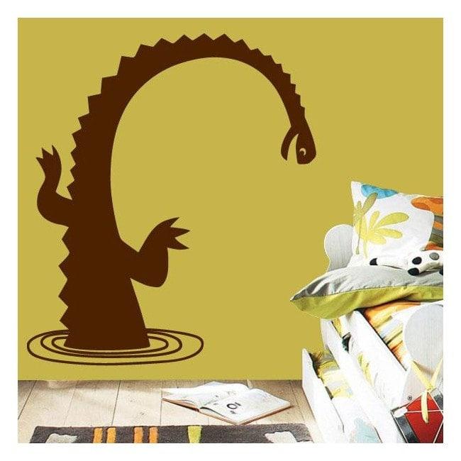 Monstre de murs de décoration du Loch Ness