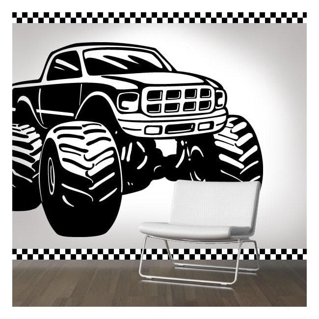 D coration murs monster truck for Stickers murs deco