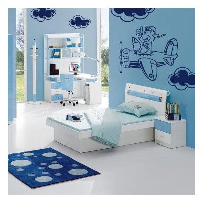 Avion de murs décoration enfant