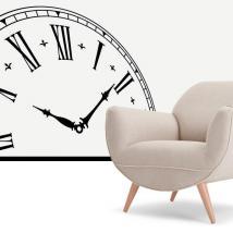 Horloge vinyle décoratif