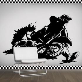 Décoratif vinyl Motocross