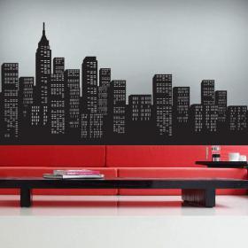 Gratte-ciel de vinyle décoratif