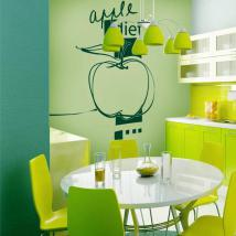 Décoratif vinyl alimentation Apple French 576
