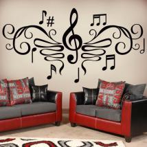 Filigrane musique vinyles décoratifs