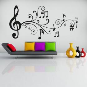 Notes de musique décoratives vinyle