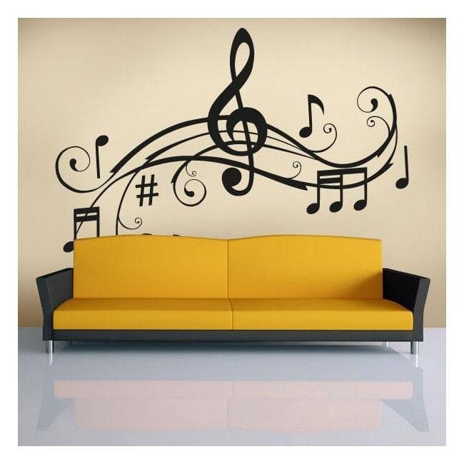 Détail Musical vinyles décoratifs