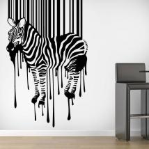 Panneaux luminescents divisant fluowall code Zebra