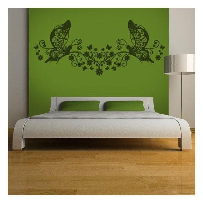 Tête de lit floral décoratif vinyl