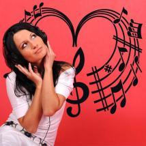 Coeur Musical vinyles décoratifs