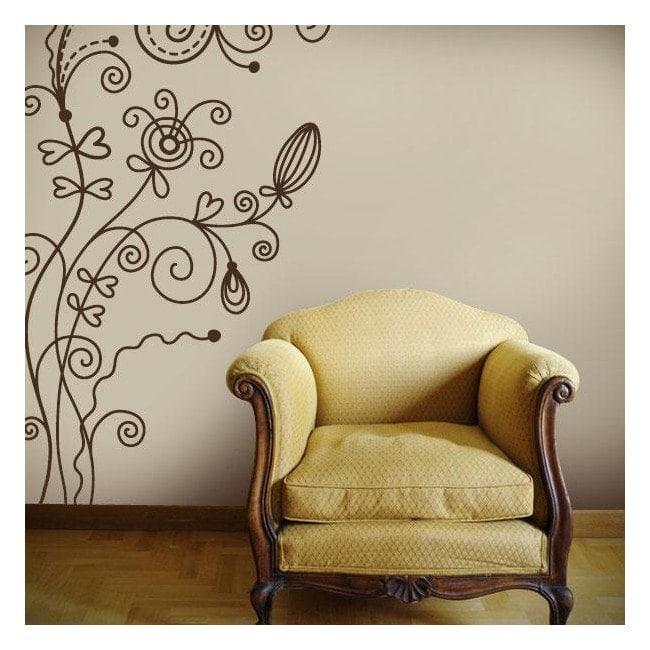 Fleurs décoratives vinyle Vintage