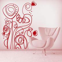 Fleurs Retro vinyle décoratif