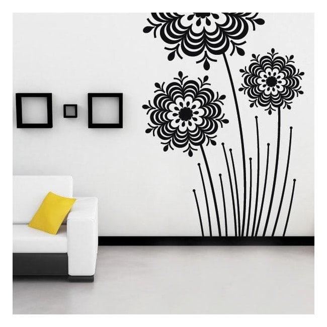 Vinyle décoratif fleurs Splash