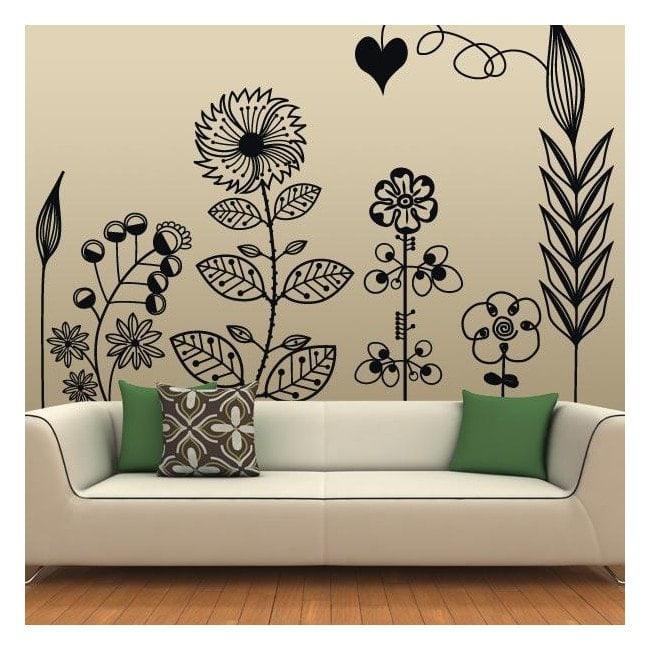 Art Floral décoratif de vinyle