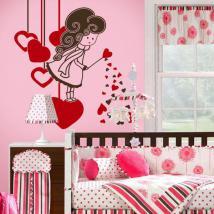 Coeurs magique vinyle décoratif
