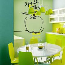 Décoratif vinyl alimentation Apple French 628