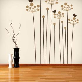 Caractère Floral décoratif de vinyle