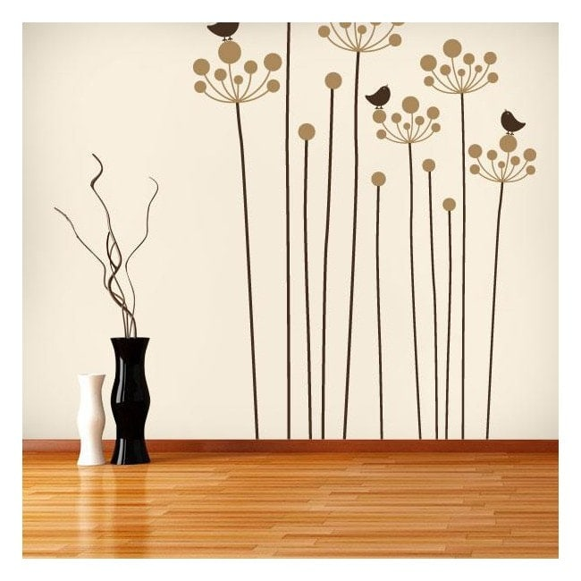 Caractère Floral décoratif de vinyle French 634