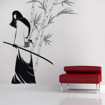 Silhouette décorative vinyle Samurai