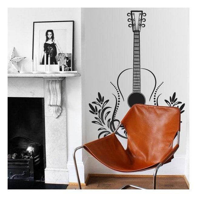 Guitare vinyle décoratif Tribal