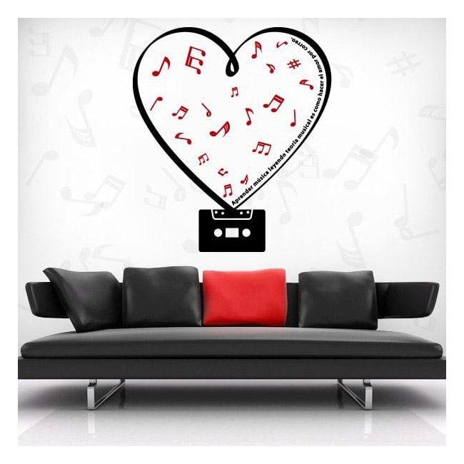 Décoratif vinyl Cassette romantique