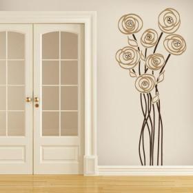 Charme Floral décoratif de vinyle
