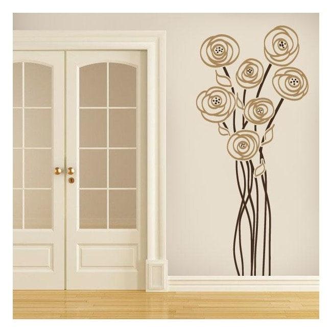Charme de vinyle décoratif fleur French 645