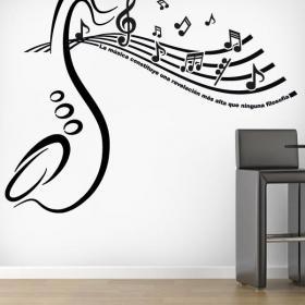 Révélation musicale de vinyles décoratifs