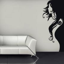 Femme de vinyle silhouette décorative French 651