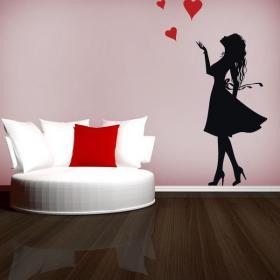 Femmes romantique vinyle décoratif