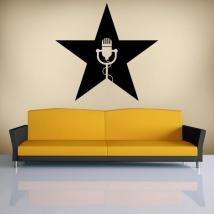 Star musique vinyles décoratifs