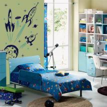 Vaisseaux spatiaux pour enfants en vinyle décoratif