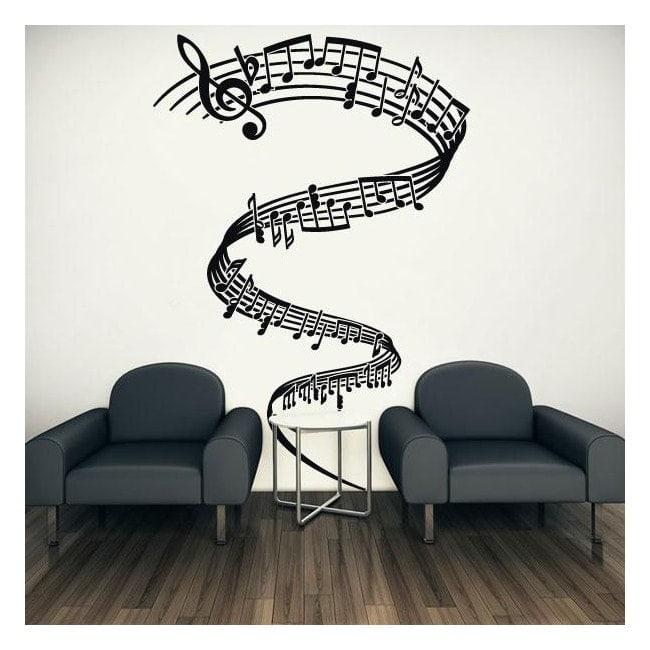 Vinyles décoratifs tornade musicale