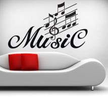 Détail de la musique de vinyle décoratif