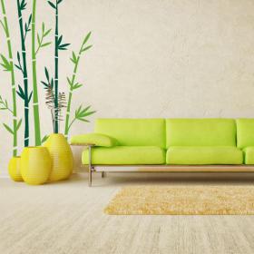 Bambou de murs décoratifs en vinyle