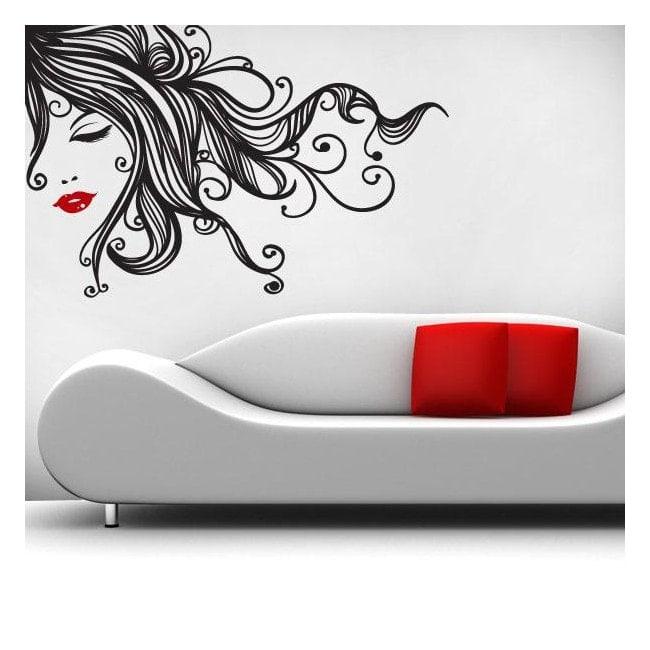 Femelle de Pop murs décoratifs en vinyle