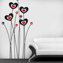 Fleurs décoratives de vinyle du coeur French 681