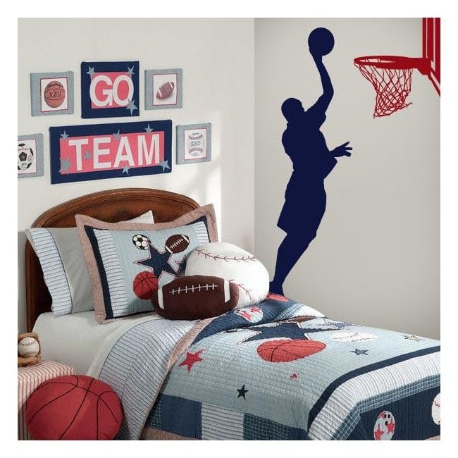 mur d coratif vinyl basketball. Black Bedroom Furniture Sets. Home Design Ideas