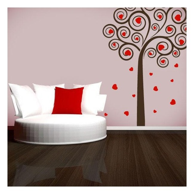 arbre d coratif de vinyle de coeurs. Black Bedroom Furniture Sets. Home Design Ideas