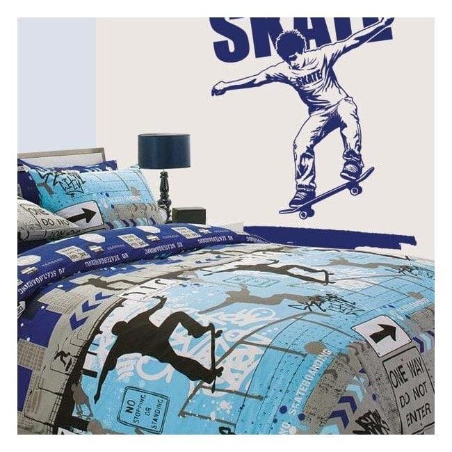 Mur décoratif vinyl Skate