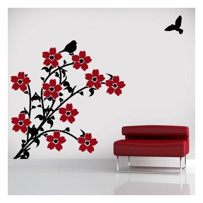 Fleurs de vinyl décoratif en couleur