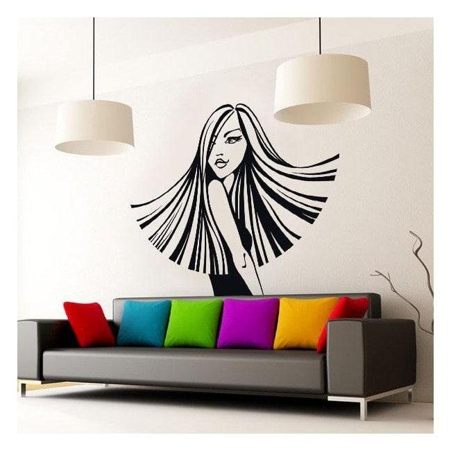 Vinyle décoratif mural silhouette femme style