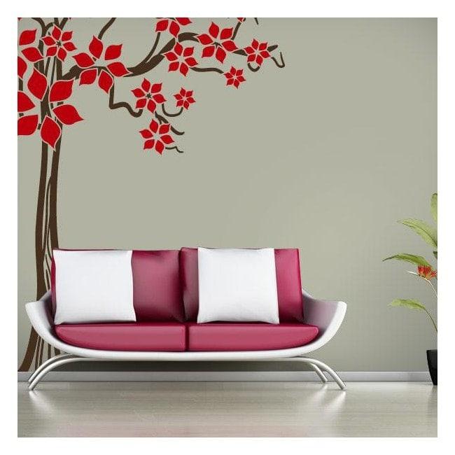 Printemps arbre vinyle décoratif Floral