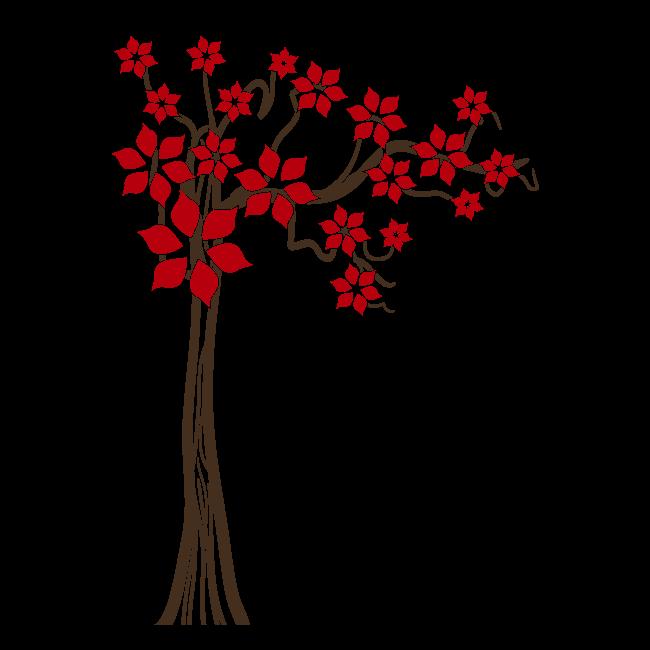 printemps arbre vinyle d coratif floral. Black Bedroom Furniture Sets. Home Design Ideas