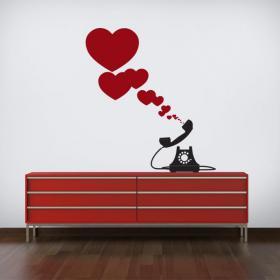 Panneaux luminescents divisant téléphone cœur romantique fluowall