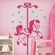Vinyle décoratif pour enfants cheval rétro