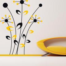 Vinyle décoratif mural fleurs bicolore