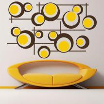Lignes et cercles Retro vinyle décoratif