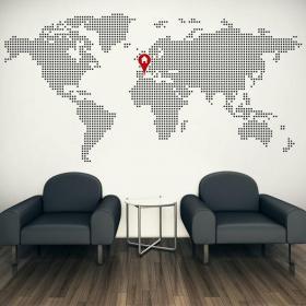 Vinyle décoratif mondiale carte Accueil